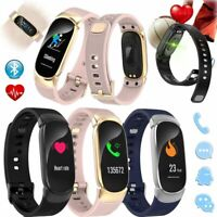 Damen Smartwatch Fitness Tracker Sport Pulsuhr Smart Armband für Samsung A9 A8