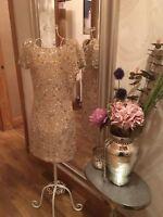 Miss Selfridge Embellished Jewel Sequin Beaded Backless Dress 8 Bloggers Asos