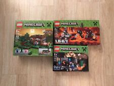Lego Minecraft Sets Lot of 3 The First Night The Wither The Dungeon Sealed