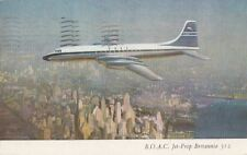 Postcard Airplane BOAC Jet Prop Britannia 312