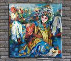 original oil painting, palette knife painting  Beijing opera -The Drunken Beauty