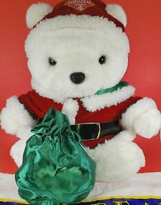 """Vintage 1998 Hudson's """"Mrs. Santa Bear"""" w/Gift Bag and Gifts Excellent Condition"""