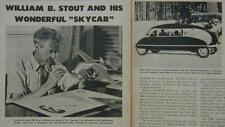 William Stout Aerocar Skycar & Scarab 1943 pictorial
