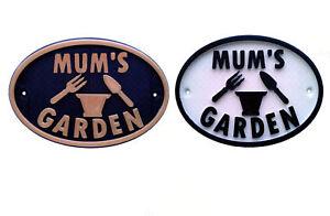 Mum's Garden - House Garden Sign Door Gate Plaque
