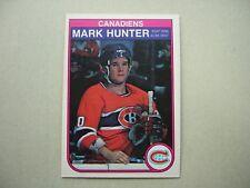 1982/83 O-PEE-CHEE NHL HOCKEY CARD #185 MARK HUNTER ROOKIE NM SHARP!! 82/83 OPC