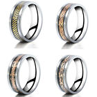 Fashion Silver Titanium Stainless Steel Men's Wedding Band Rings Jewelry Gift