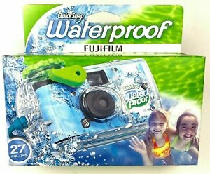 (2) Fujifilm QuickSnap WATERPROOF CAMERAS 27 Exp 35mm 800 Film One Time Use *NEW