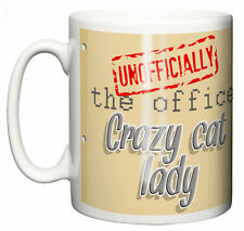 "IiE, ""The Office Crazy Cat Lady"" Funny Tea Coffee Mug Christmas Secret Santa"