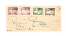 Polen Briefmarken Brief von 1950 Groszy Aufdruck Bauernbewegung Mi 642-645