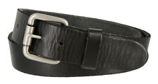Mens Casual Full Grain Genuine Cowhide Leather Jean Belt, 1-1/2