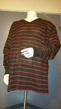 Mens Thermol Sweater 5XL Crewneck Collar Black and Red