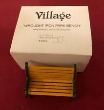 """Two (2) Benches Village Dept. 56 """"Wrought Iron Park Bench"""" #5230-2"""