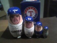 Texas Rangers MLB Auth. BaBooshkah Nesting Doll BD&A Collectors Series 2004 NIB
