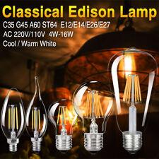 e14 e27 4/8/12/16w vintage filament led bulb round light novel edison desk lamp