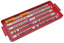 "110pc Socket Tray Rack 1/4"" 3/8"" 1/2"" Inch Drive Snap Rails Tool Set Organizer"
