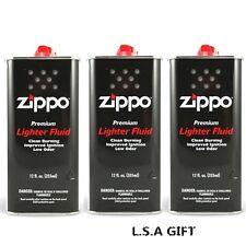 Zippo 12 fl.oz (355ml) Fluid Fuel 3 Can Value Pack Combo Set New