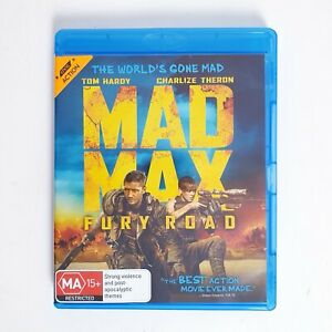 Mad Max Fury Road Bluray Movie Region B Blu-ray Free Postage - Action