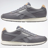 Reebok Men's Classics Royal Glide Ripple in Grey and White Leather Trainers