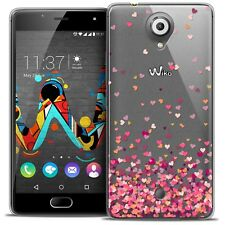 Coque Gel Pour Wiko U Feel Extra Fine Souple Sweetie Heart Flakes