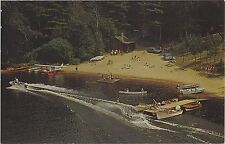 c1960/1977 Camp Hilary Long Lake in the Adirondacks of New York NY postcard view