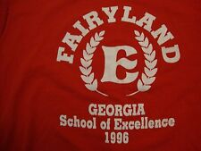 Vintage Fairyland Georgia School Of Excellence 1996 Red T Shirt Size L