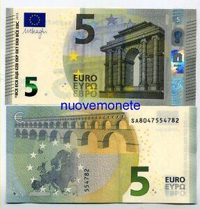 5 EURO DRAGHI SA ITALIA UNC NUEVO MODELO,  año 2013