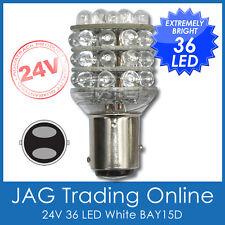 24V 36-LED BAY15D WHITE 1157 AUTOMOTIVE STOP/TAIL GLOBE-Truck/Caravan Light Bulb