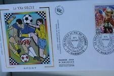ENVELOPPE PREMIER JOUR SOIE 2000 FOOBALL DE 1998