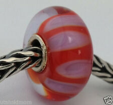 Authentic Trollbeads Murano Glass Retired Lilac Shadow (B) Bead Charm, 61161 New