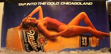 """Vintage Miller Genuine Draft Tap Into The Cold Chicagoland 18 x 36"""" Poster Sexy"""