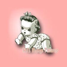 Vintage Baby Doll Crawling Pattern