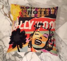 Marilyn Monroe Hollywood  PAD concept Throw Pillow NWT