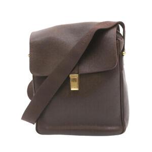 LOUIS VUITTON Taiga Yaranga Shoulder Bag Acajou M30826 LV Auth th1451