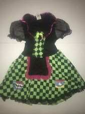 Alice In Wonderland Mad Hatter Halloween Girl's Costume Dress Up Large Size 8-10