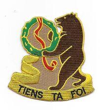 "US Army 321st Cavalry Regiment ""Tiens Ta Foi""  patch"