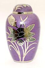 Urna Para Cenizas Cremación Memorial Funeral Adulto recipiente grande de ceniza púrpura de latón