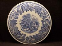 New in Box SPODE Blue Room Collection RURAL SCENES Cake Plate