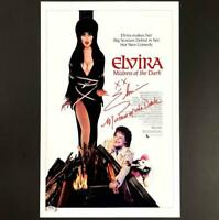 "Elvira ""Mistress of the Dark"" rare inscription Signed 11x17 Photo PSA/DNA COA"