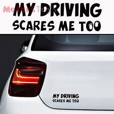 1PC JDM Funny Joke My Driving Scares Me Too Hellaflush Vinyl Car Sticker Decal