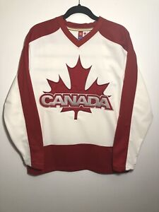 2006 HBC OLYMPIC TEAM CANADA Hockey Jersey Men's Size Medium White & Red