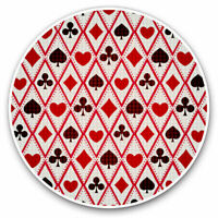 2 x Vinyl Stickers 7.5cm - Playing Cards Hearts Spades Cool Gift #3724