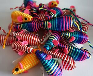 ANCOL 16CM STRIPEY MICE CAT TOYS BRIGHT LIGHTWEIGHT CAT TOYS CAT KITTEN MOUSE