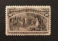 Scott US # 237 - 1893 Columbians, 10 Cents; Mint Hinged: OG; CV=$90