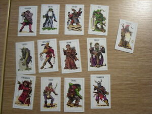 Talisman - The Magical Quest Game: Small Character Cards x 13