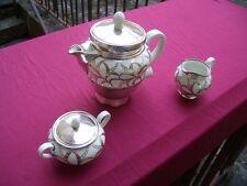 Teekern mit Aromat, Aromator Kanne , Silberporzellan Dekor, US Zone
