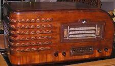 Vintage GE Waterfall Tube Radio GE93 3 Band 8 Button Magic Eye Micro Log Works