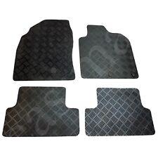 Nissan Qashqai Mk1 Deluxe Tailored Rubber Car Mats 2007-2013 Black 4pc Mat Set