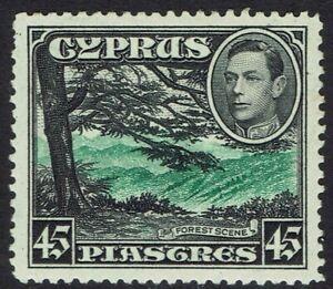 CYPRUS 1938 KGVI FOREST 45PI MNH **