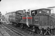 PHOTO  LMS EX MIDLAND JOHNSON 1P 0-4-4T NO 58071 AT TEWKESBURY RAILWAY STATION 1