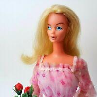 Vintage Kissing Barbie #2597 Doll w/ Original Dress & Flowers 1978 Push Button